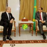 Jean-Yves Le Drian reçu par le Président Mohamed Ould Abdel Aziz