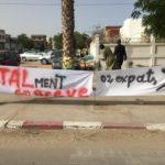 Banderole des grévistes de Total Mauritanie – Crédit Photo Abdoul BA