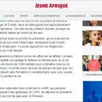 Capture d'écran – Article Jeune Afrique publié le 15/11/2017 par Alain Faujas
