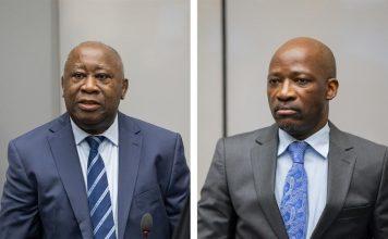 Laurent Gbagbo et Charles Blé Goudé dans la salle d'audience I au siège de la Cour pénale internationale à La Haye, Pays-Bas, le 15 janvier 2019 ©ICC-CPI
