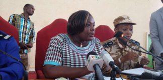 La procureur du Burkina Faso, Maïza Sérémé, donne une conférence de presse à Ouagadougou, le 14 août 2017. VOAA